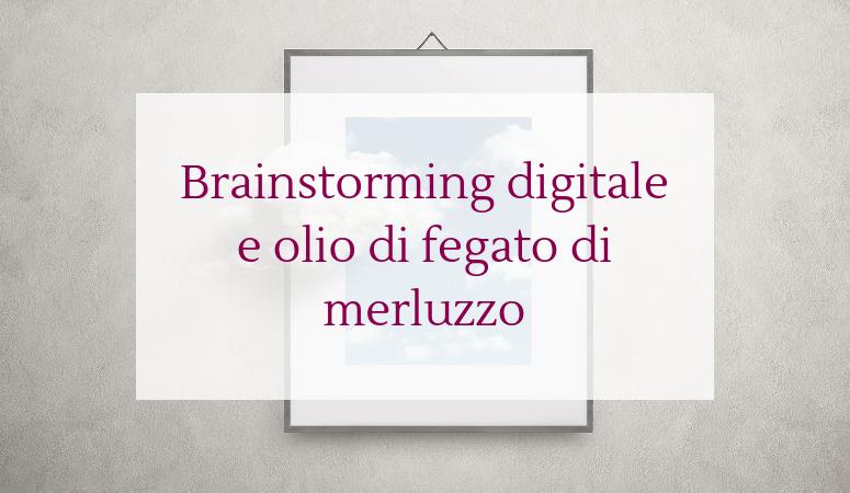 Brainstormig digitale e olio di fegato di merluzzo